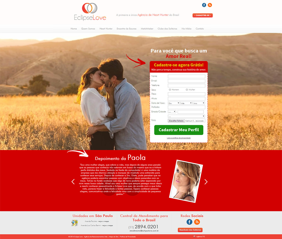 Landing Page - Eclipse Love