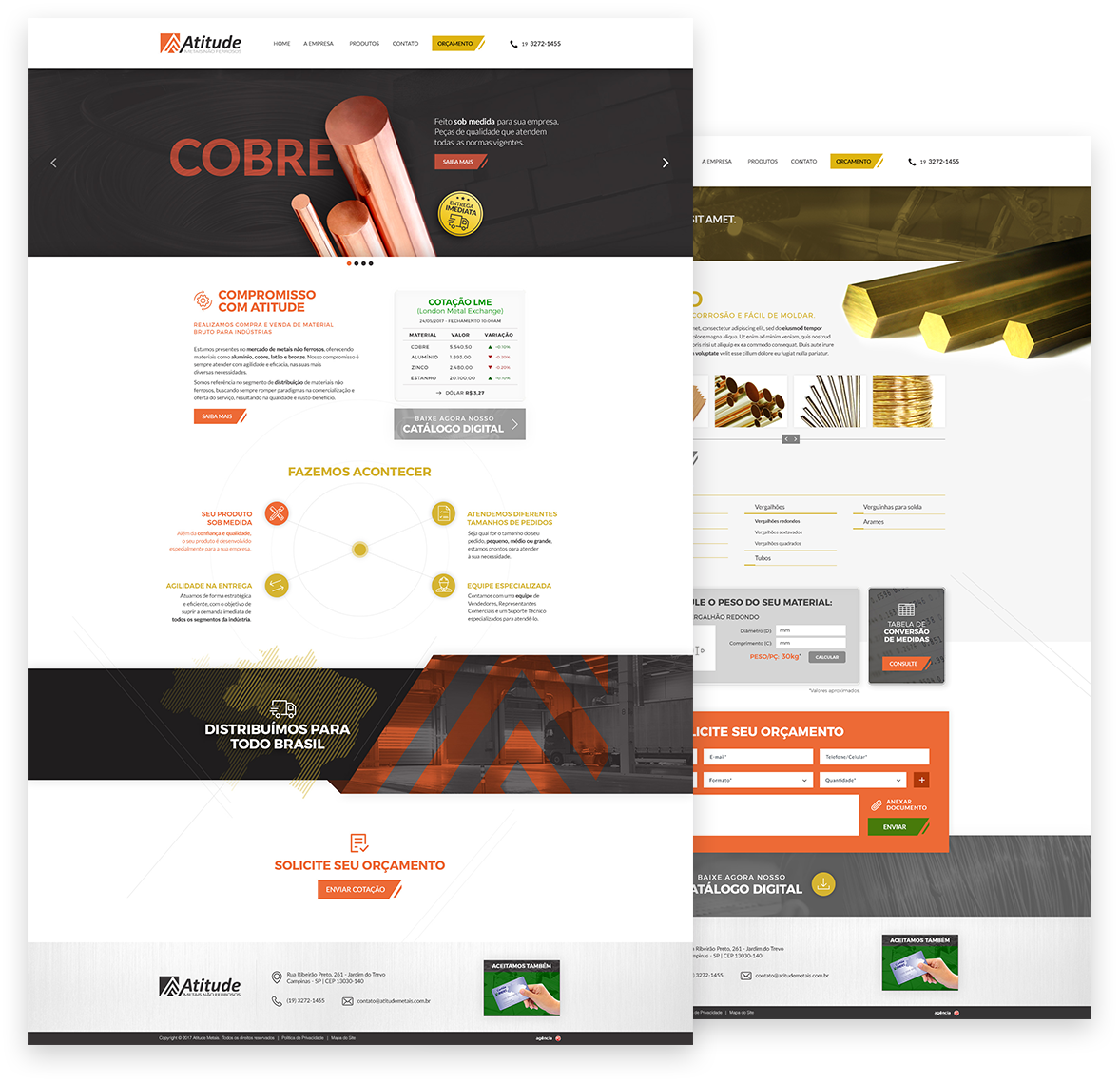 Criação e desenvolvimento do novo Site