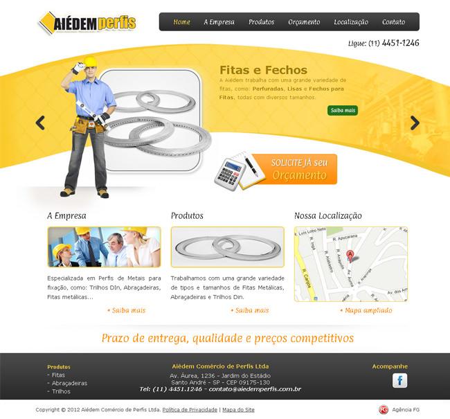 FG cria novo site da Aiédem Perfis