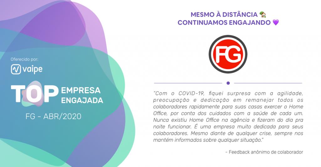 Agência FG está entre as TOP engajadas Vaipe