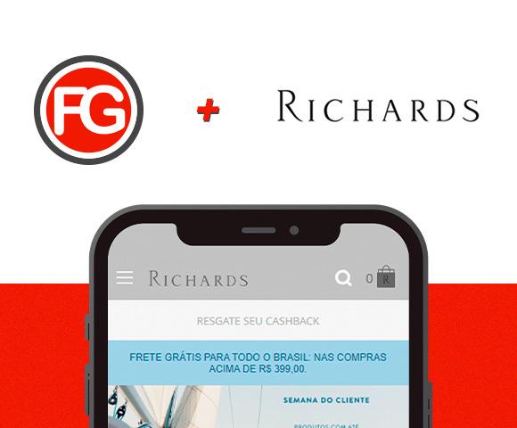 Richards: a marca agora é cliente da Agência FG